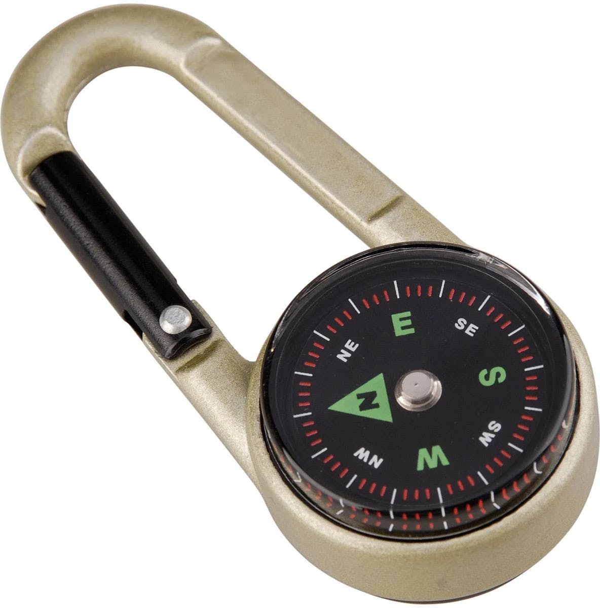 Munkees Carabiner Compass W/thermomtr
