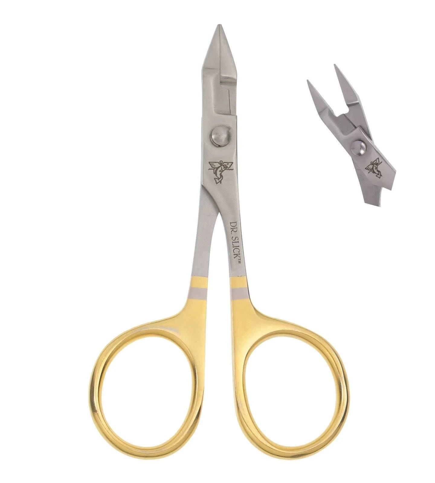"Dr. Slick 4.75"" Gold Barb Crusher Scissor Clamp"
