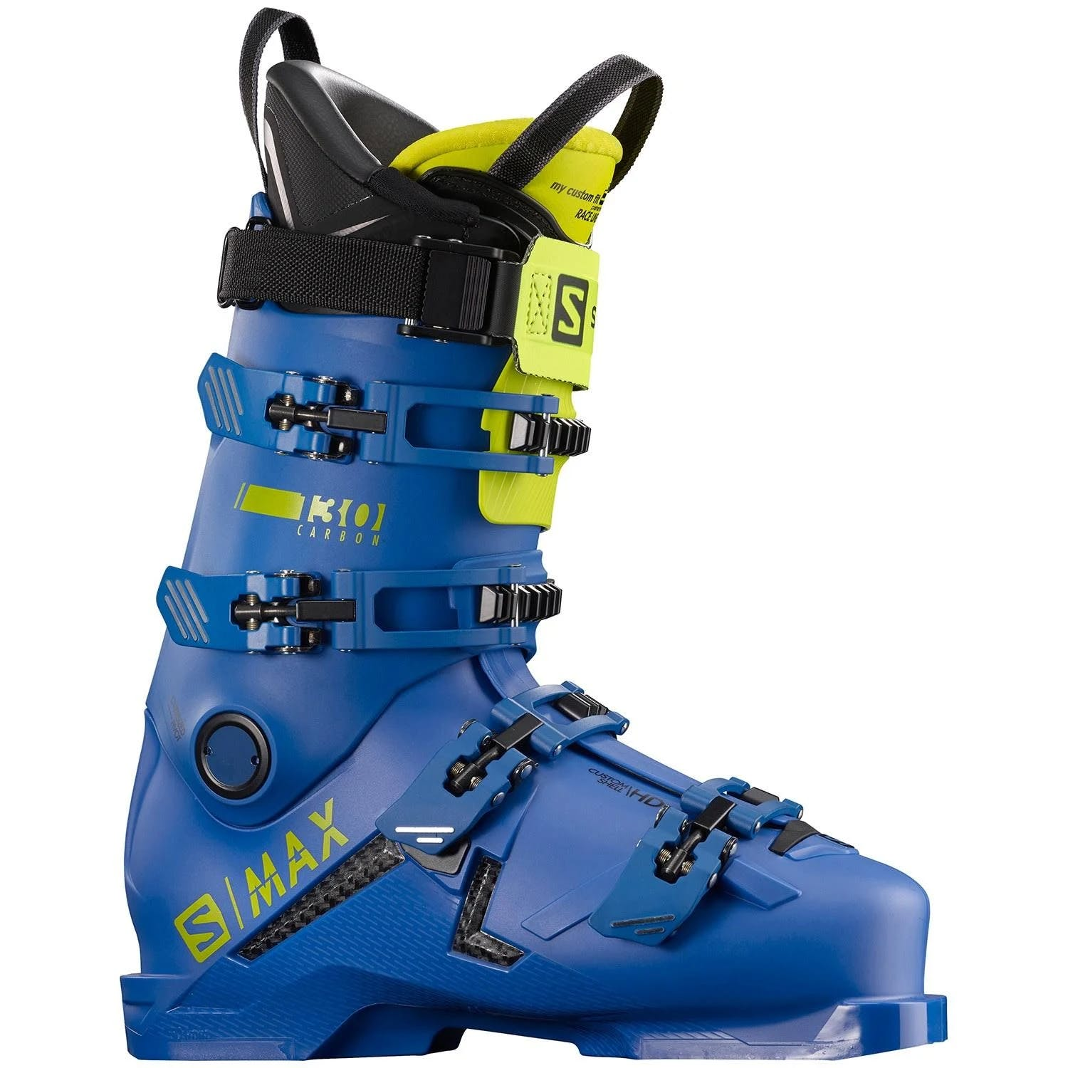 Salomon S/max 130 Carbon Ski Boots Race Blue-acid Green 26.5