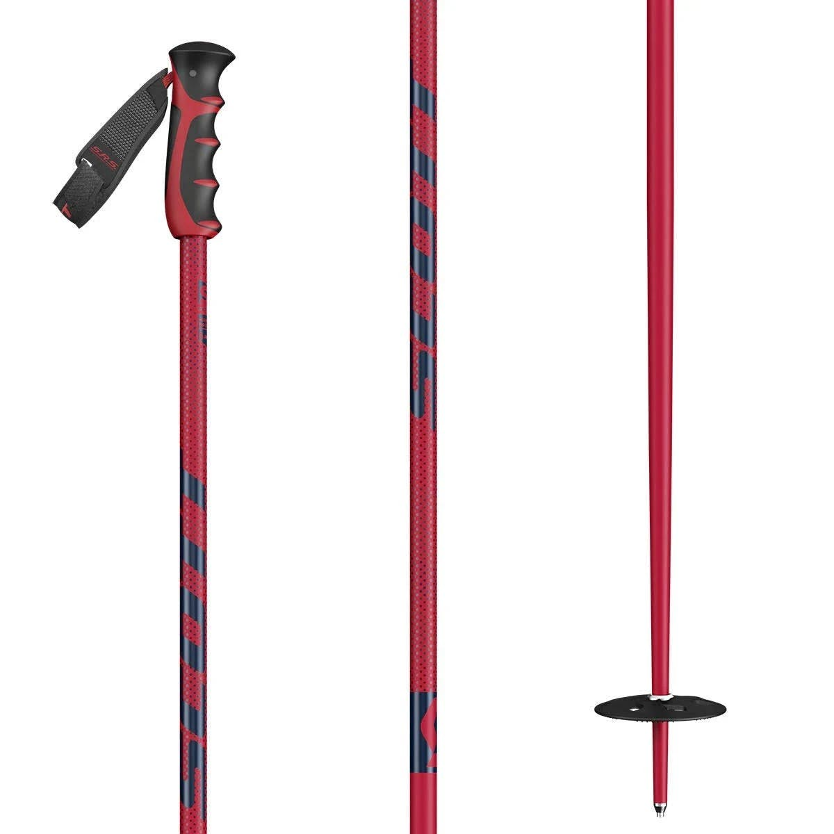 """Scott Sports Ski Poles Team Issue Red 44"""""""