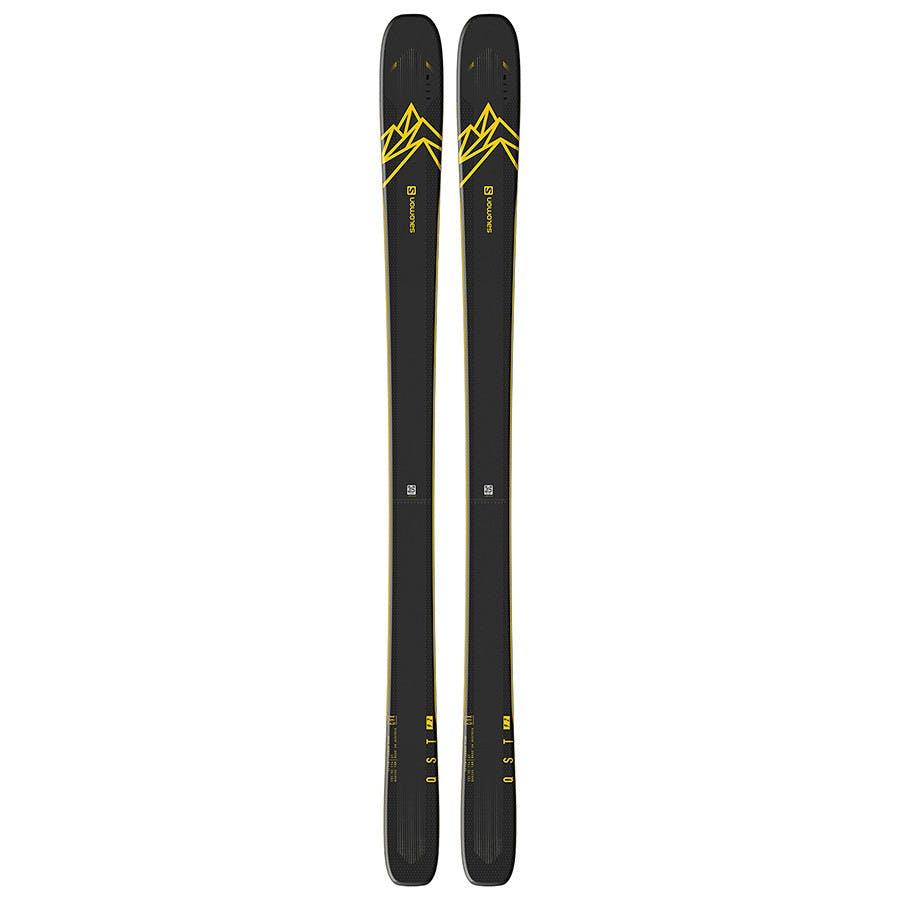 Salomon QST 92 Skis Dark Blue Yellow