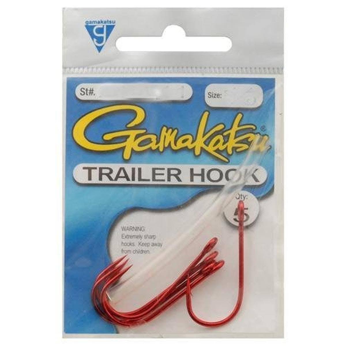 Gamakatsu Trailer Hook - Red 1/0