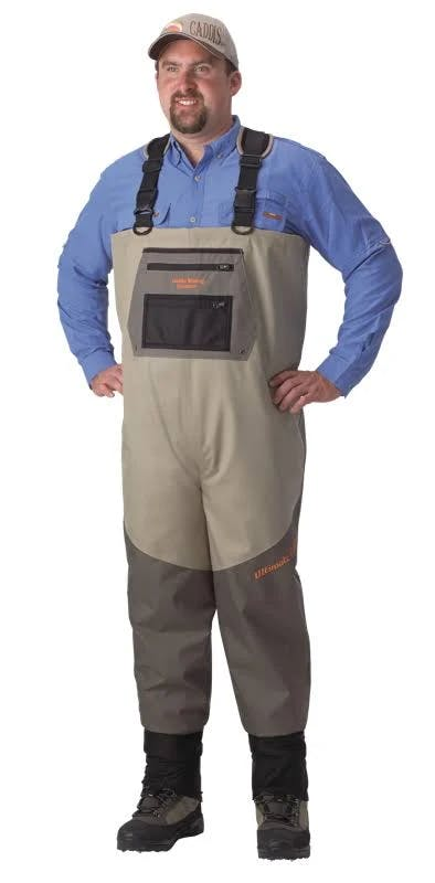 Caddis Men's 5-Ply Ultimate Guide Breathable Chest Waders - Sage/Taupe M Stout