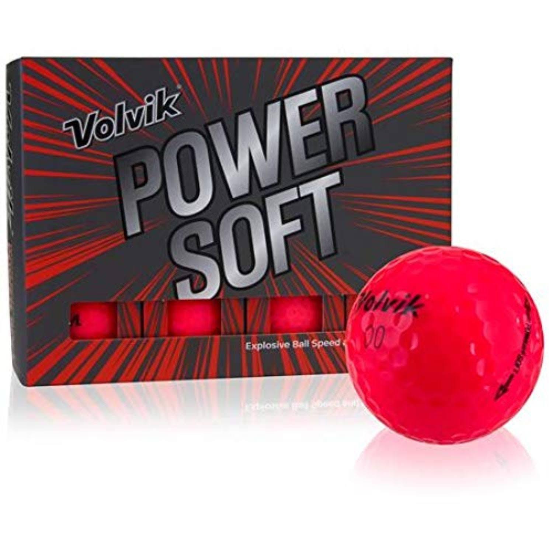 Volvik Power Soft Golf Balls Dozen - Gloss Red