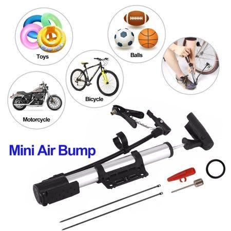 EEEKIt Mini Bike Air Pump Portable Aluminum Lightweight Bicycle Pump, Ball Basketball Soccer Tyre Inflator
