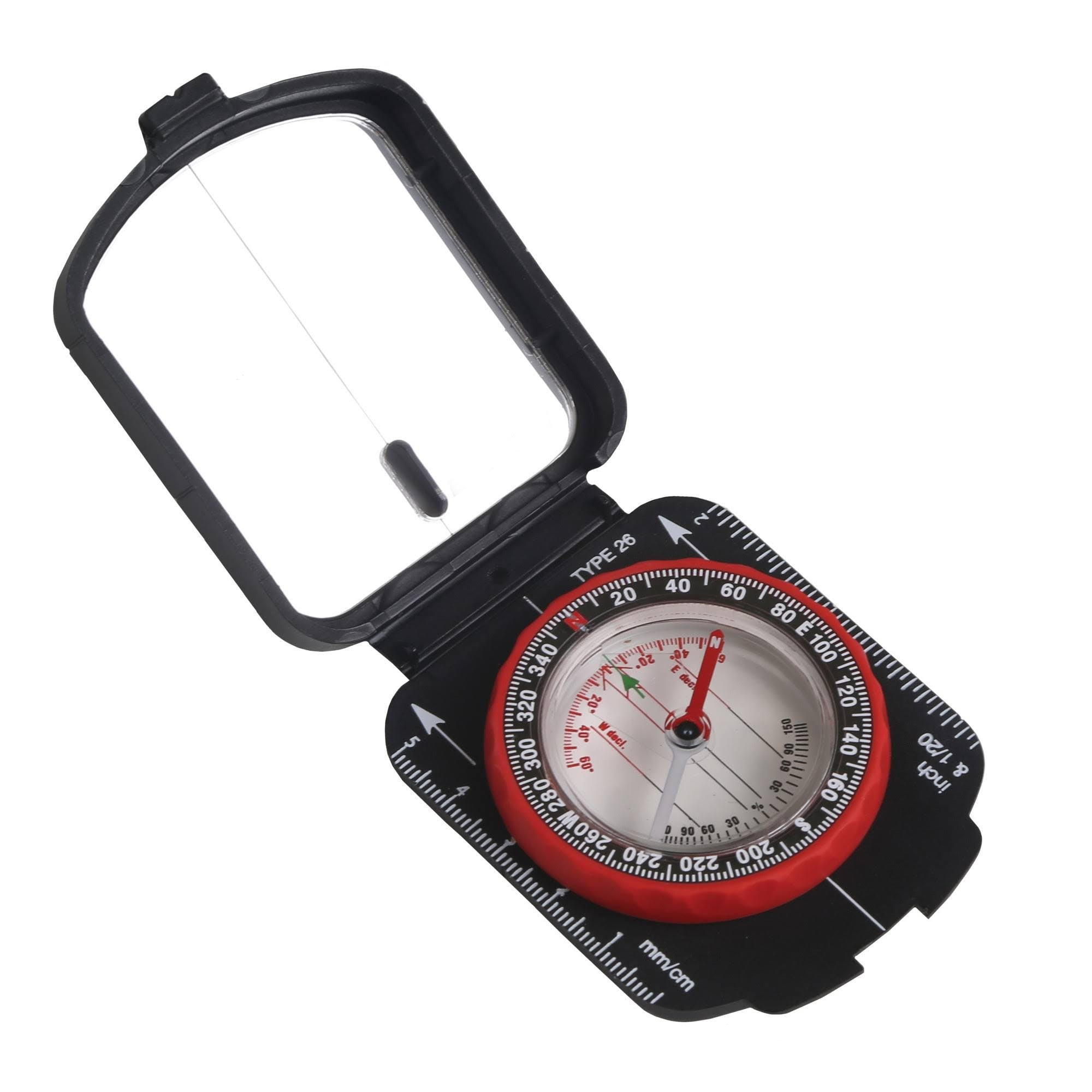 Stansport 553 - Multifunction Compass with Mirrored Cover