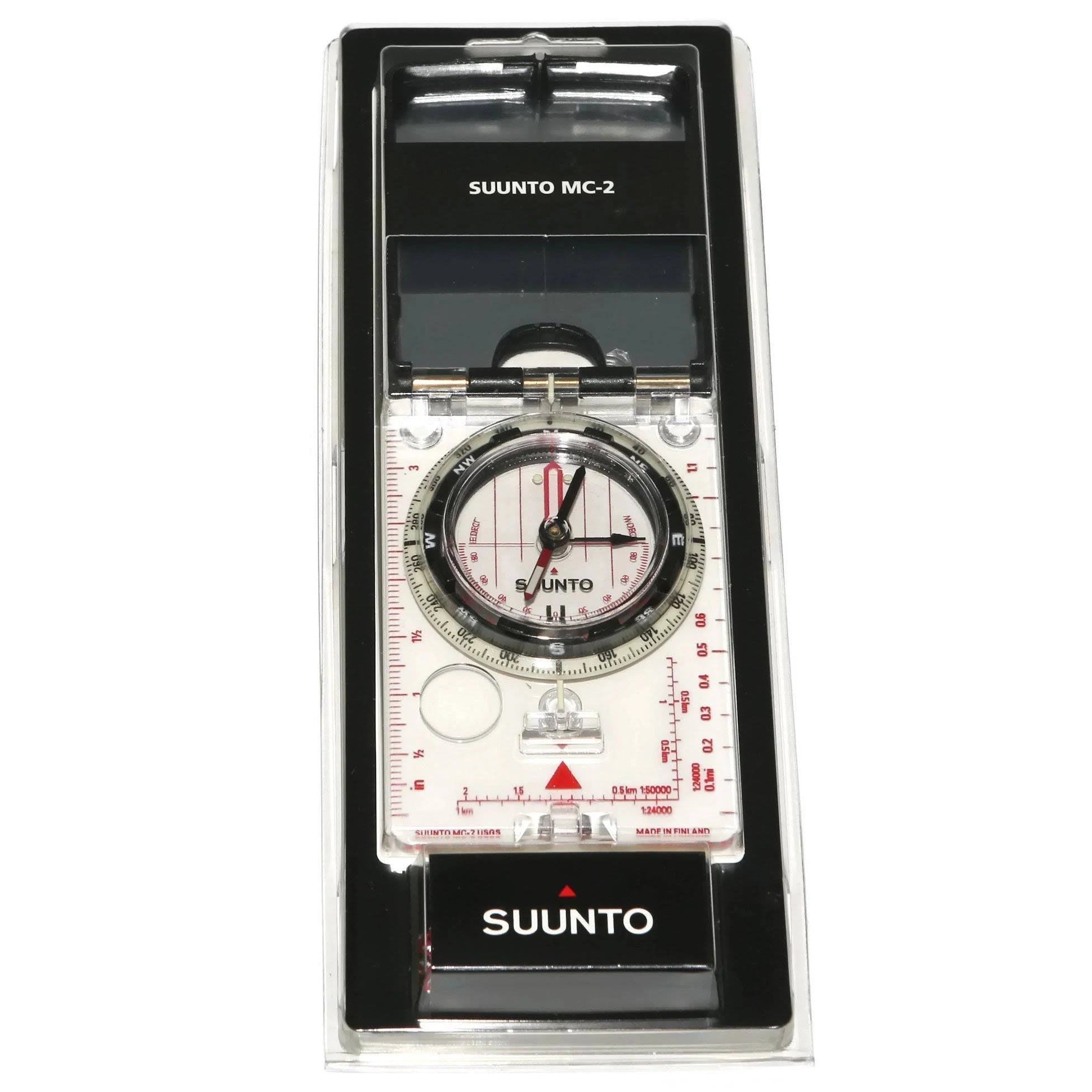 Suunto MC-2 D/L IN/NH Mirror Sighting Compass, Black