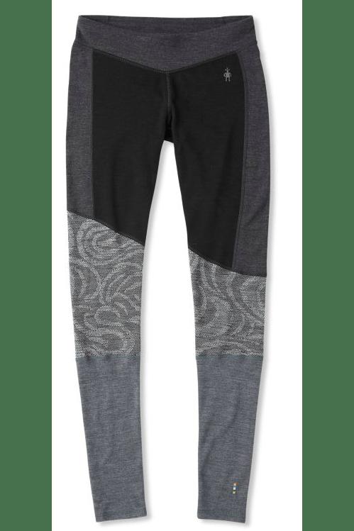 Smartwool Merino 250 Asym Bottom Women's X-small Black Snow Swirl Pants