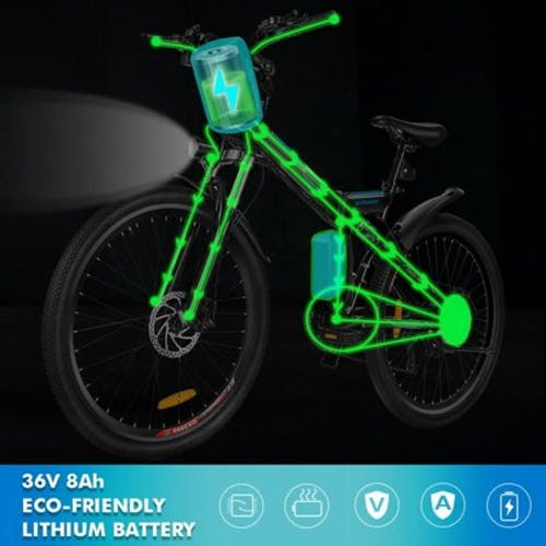 "26"" Electric Bike E-Bike Folding Bicycle 7 Modes Fly-wheel Mountain Bicycle TPBY"