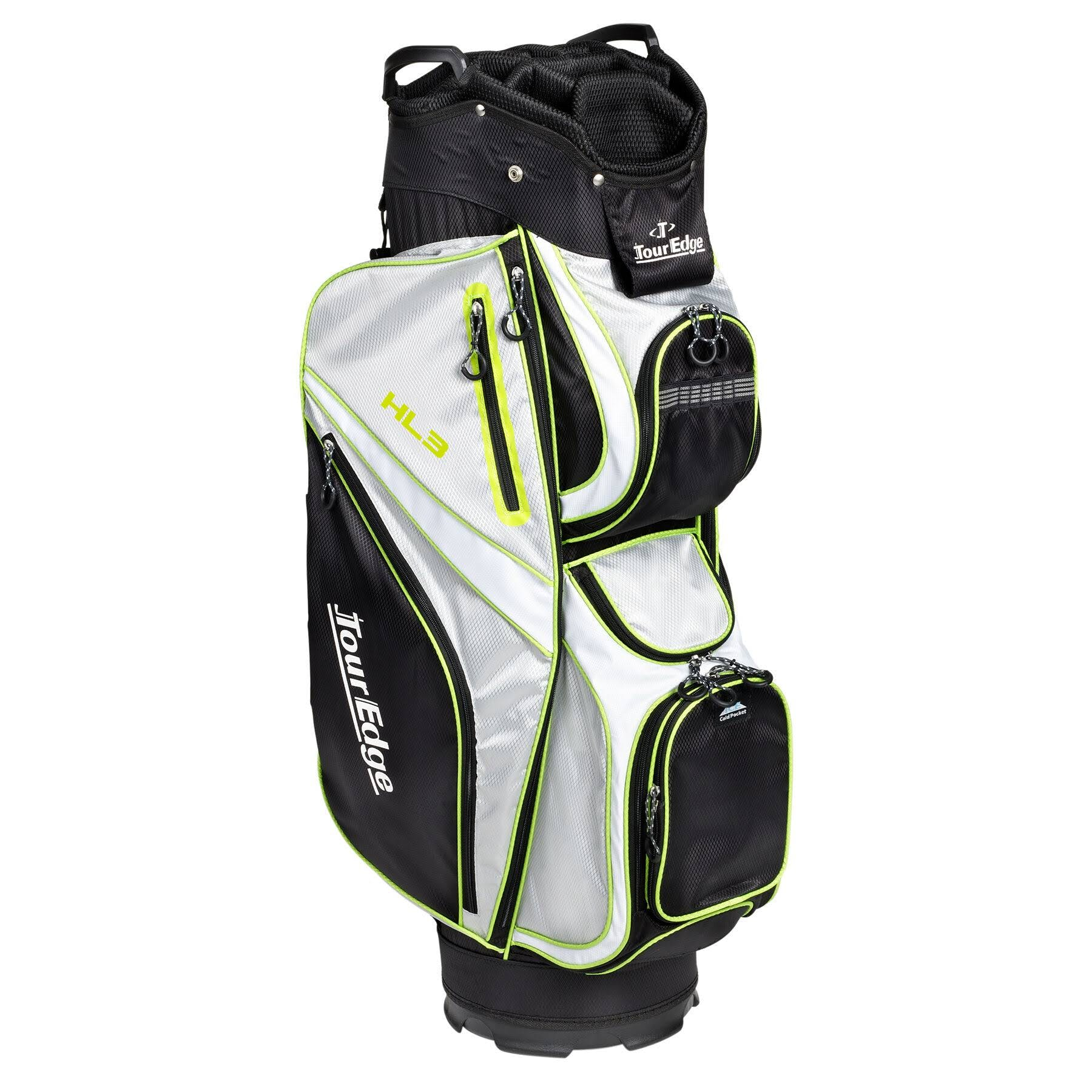 Tour Edge Golf UBAHKCB07 HL3 Cart Bag Ladies Black Silver