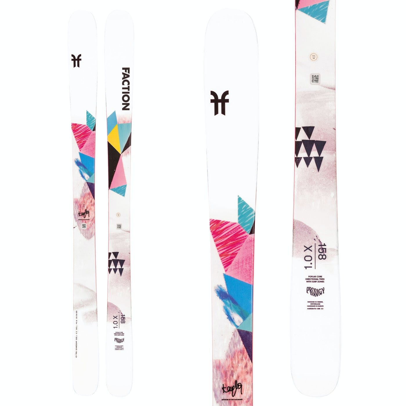 Faction Ski Prodigy 1.0 X Skis White