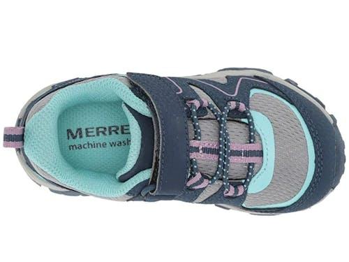 MERRELL - GIRLS TRAIL QUEST JR - 5 - WIDE - Navy/Grey/Turq