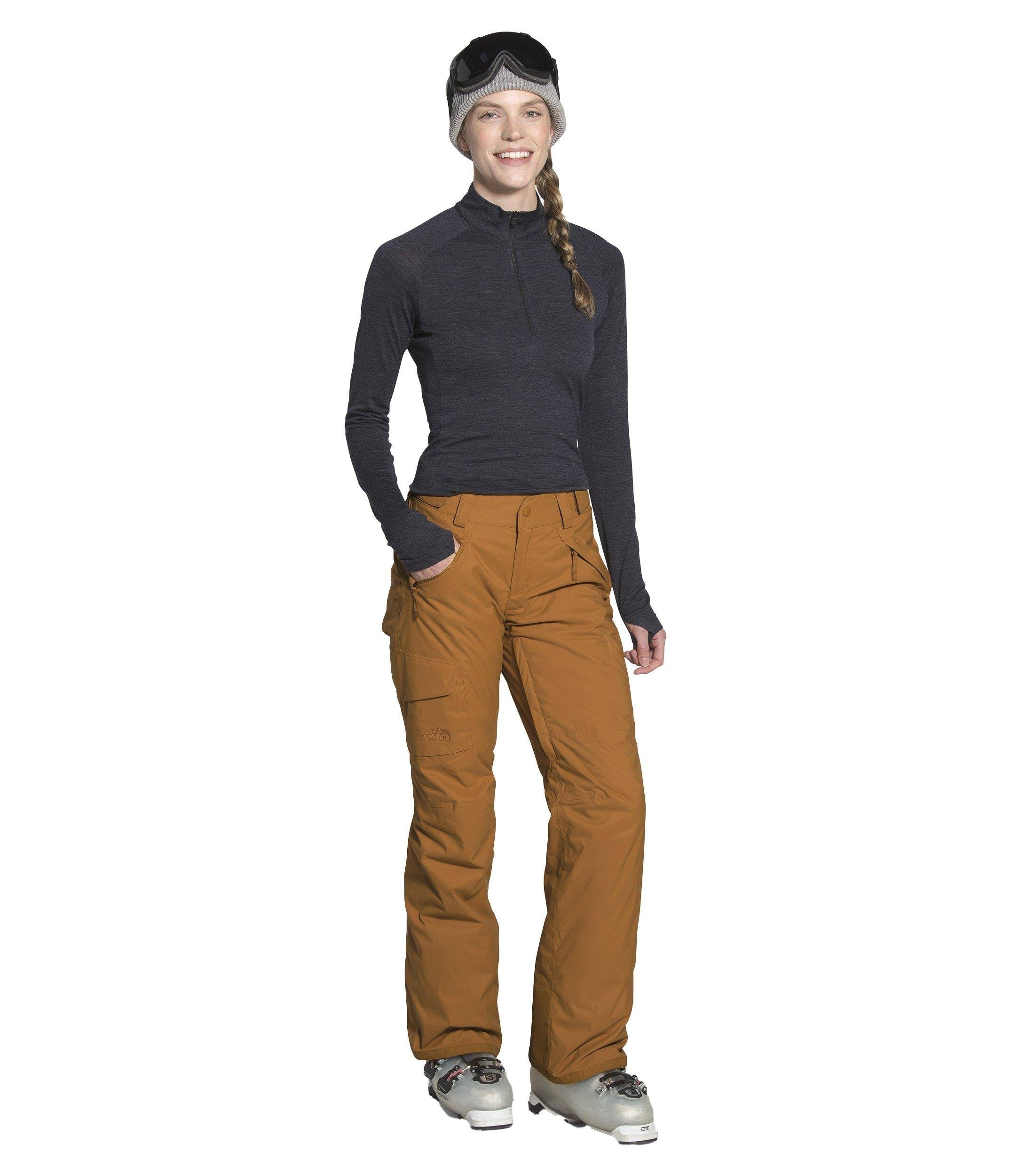 The North Face the North Face Women's Freedom Insulated Snow Pants Small Timber Tan