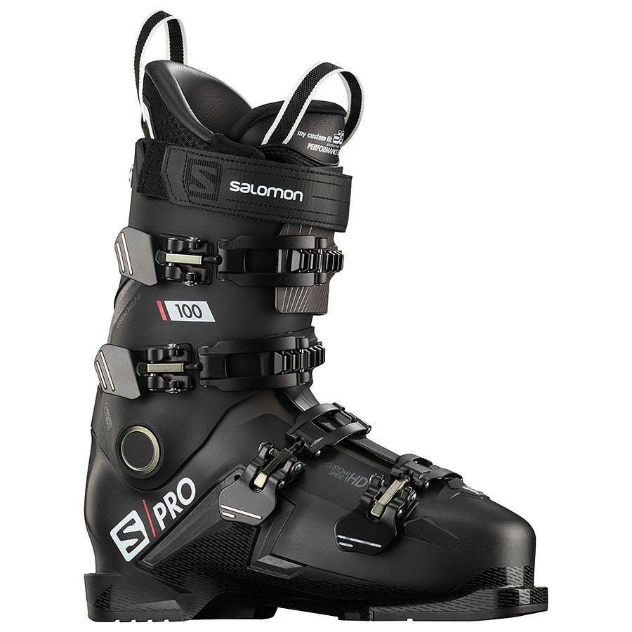 Salomon S/pro 100 Ski Boots 31.5 Black Belluga Red