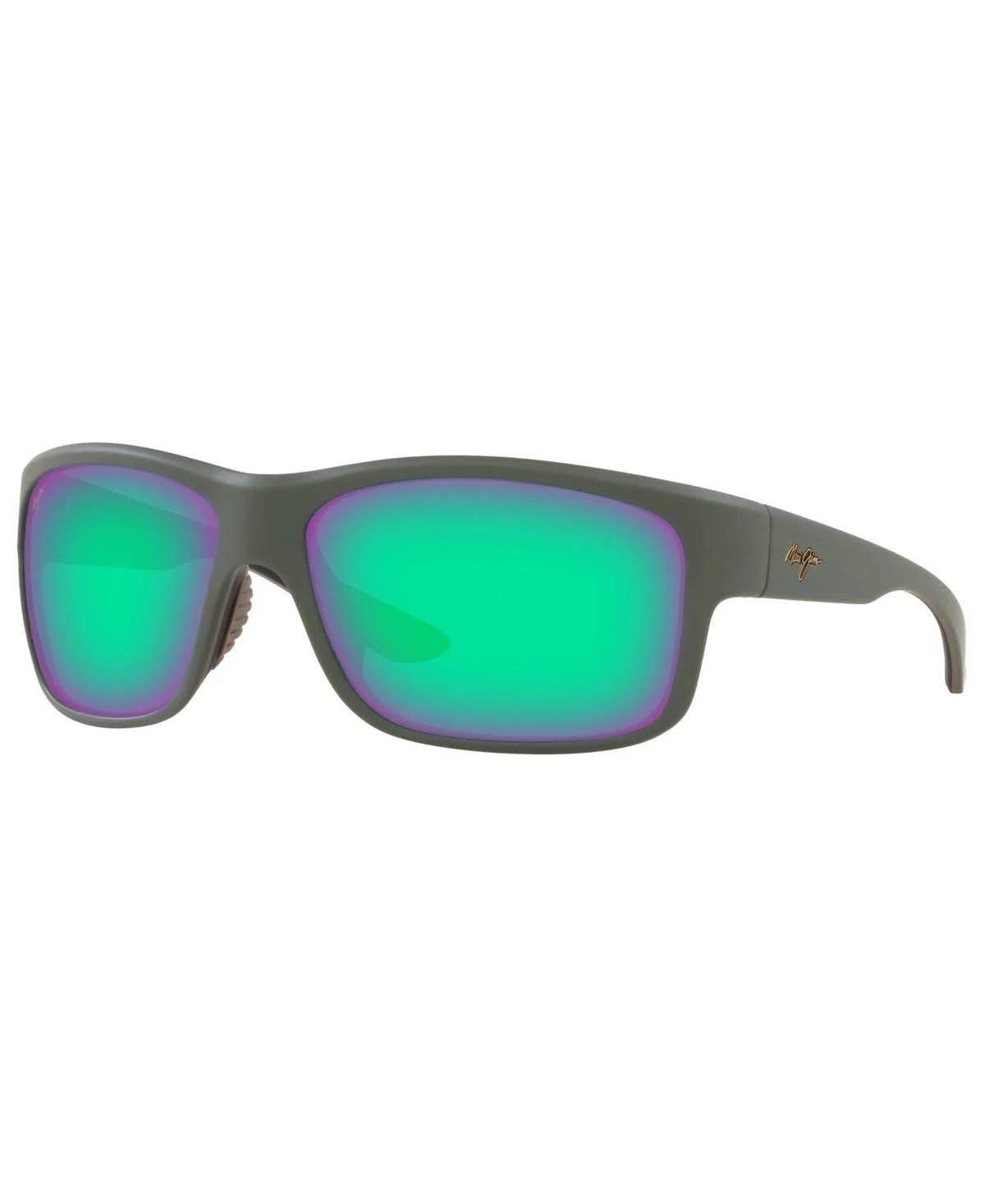 Maui Jim Southern Cross MAUIGreen, Polarized Wrap Sunglasses