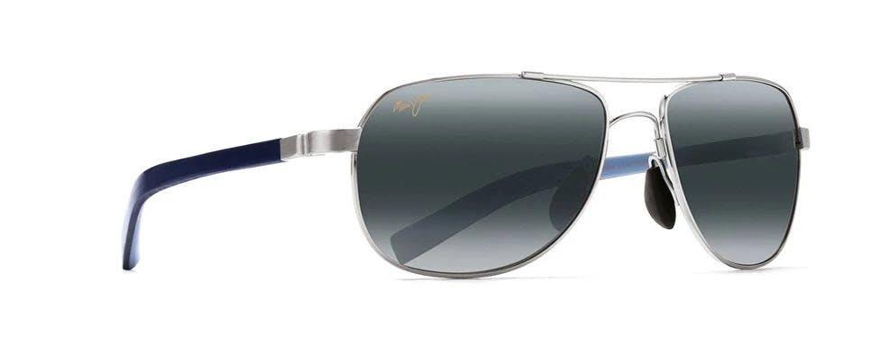 Maui Jim Guardrails Silver & Neutral Grey Polarized Sunglasses