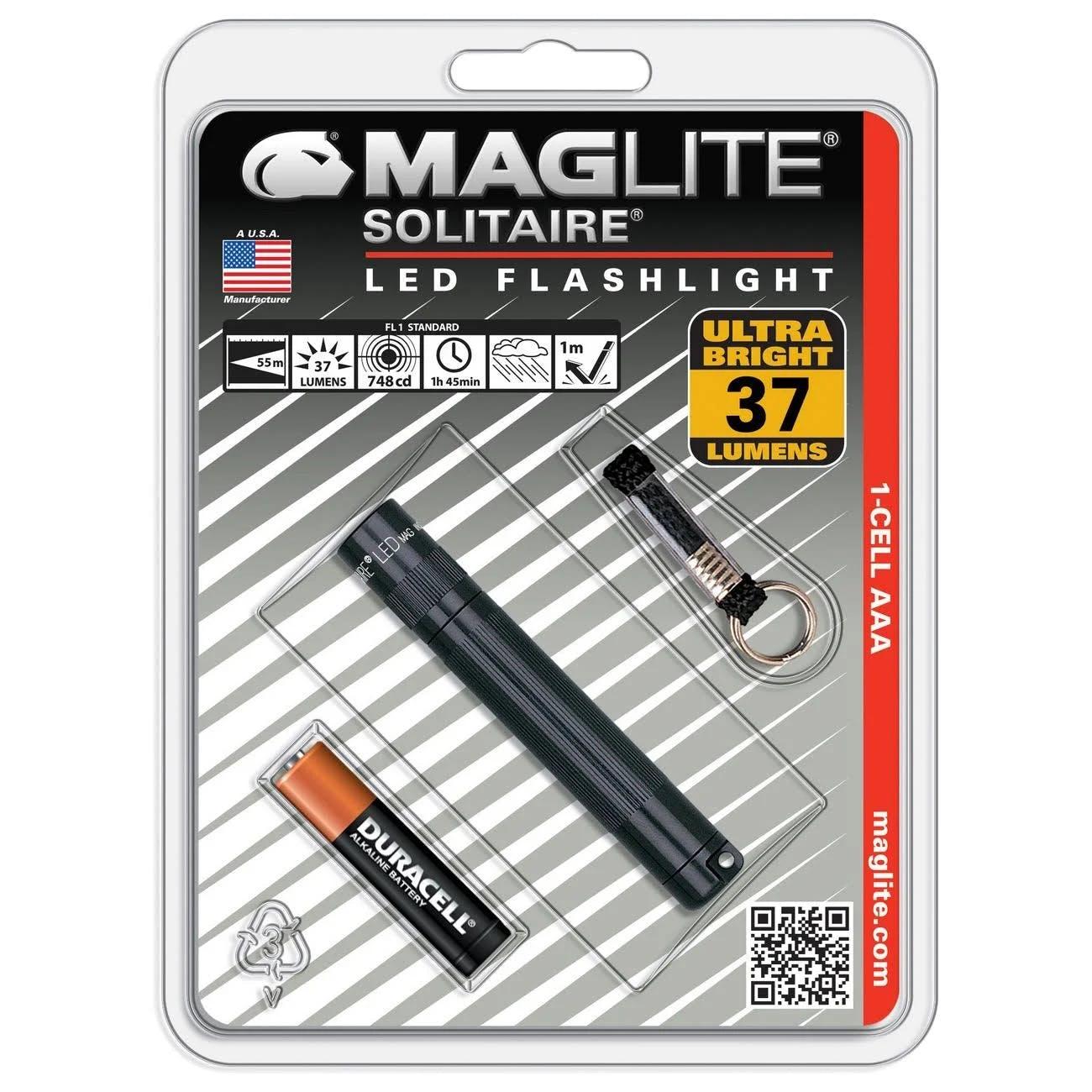 Maglite SJ3 Solitaire AAA LED Flashlight - black