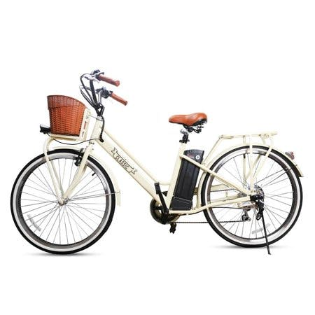 NAKTO Classic 26inch City Electric Bicycle 250W 36V for Female Black