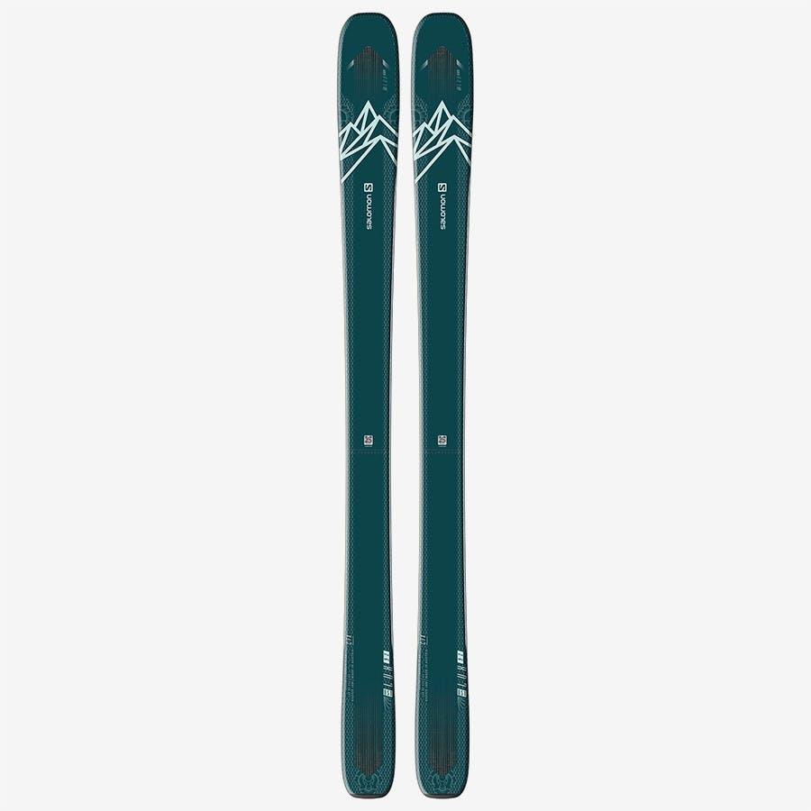 Salomon QST LUX 92 Skis Blue Green Light Blu