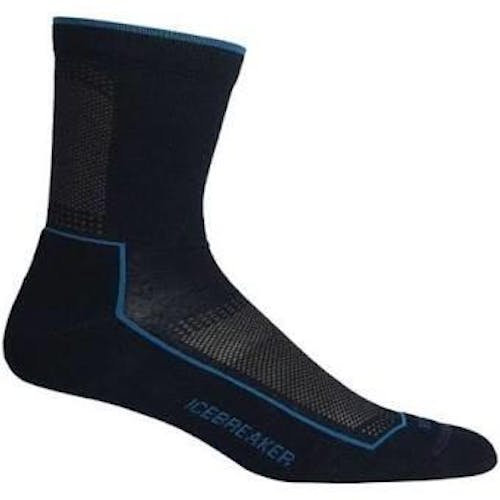 Icebreaker Men's Lifestyle Cool LT 3Q Crew Socks in Timberwolf, Nylon, Size XL