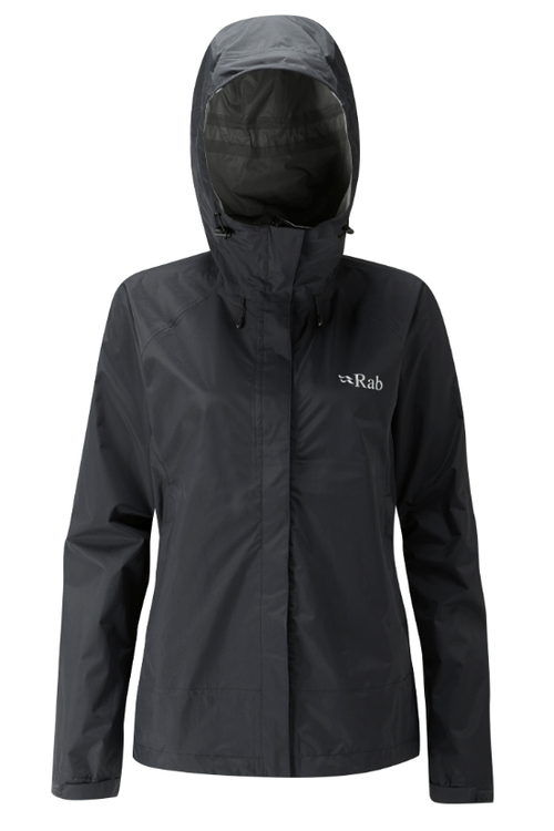Rab - Downpour Jacket W - SMALL - Black