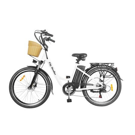 Nakto City Electric Stroller E-Bike For Adults Electric Mountain Bicycle 250W Powerful Motor 36V 10 Ah Lithium Ion Battery Ride In Snow Ice · Rain · Beach and Terrain · White