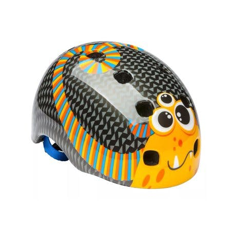 Schwinn Toddler Burst Monster Bike Helmet - Black/Orange