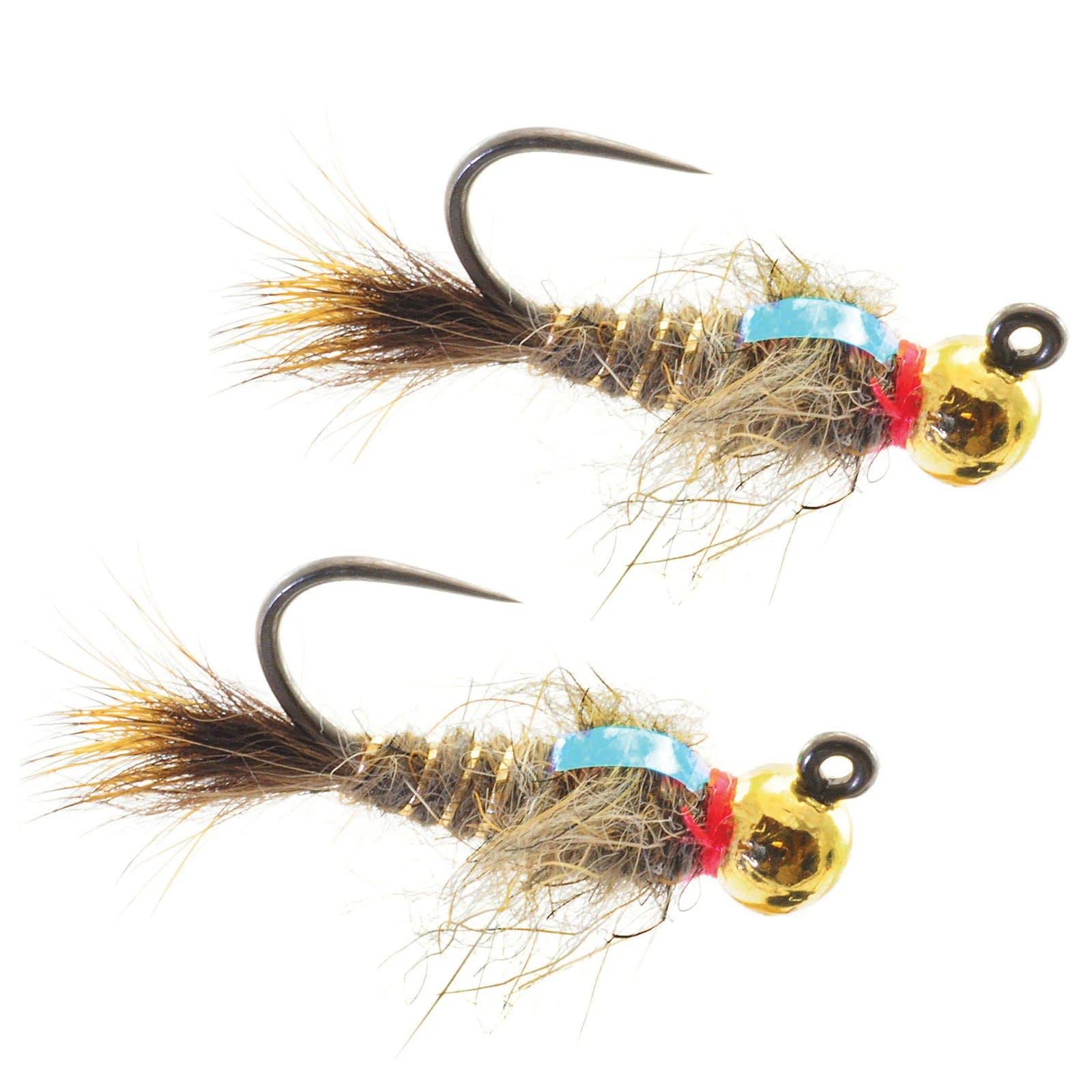 Umpqua Tungsten Jigged Hare's Ear 2 Pack