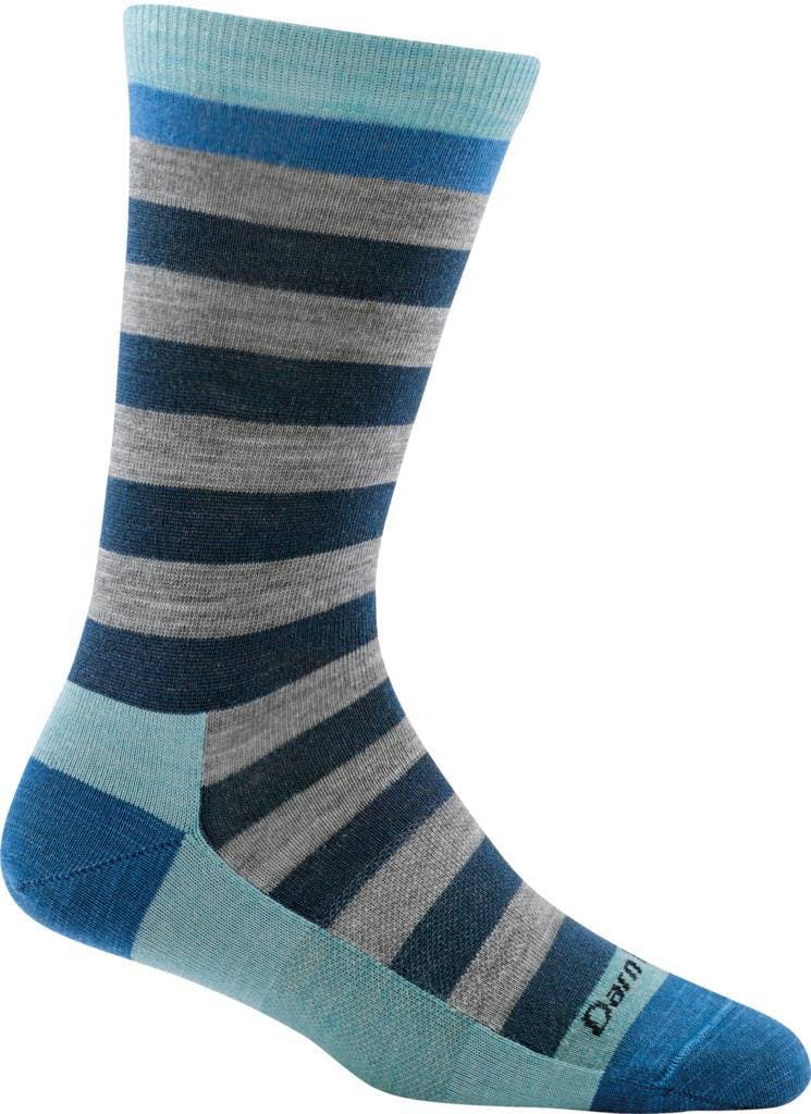 Darn Tough Women's Good Witch Crew Light Socks in Bonnie Boysenberry, Size Medium
