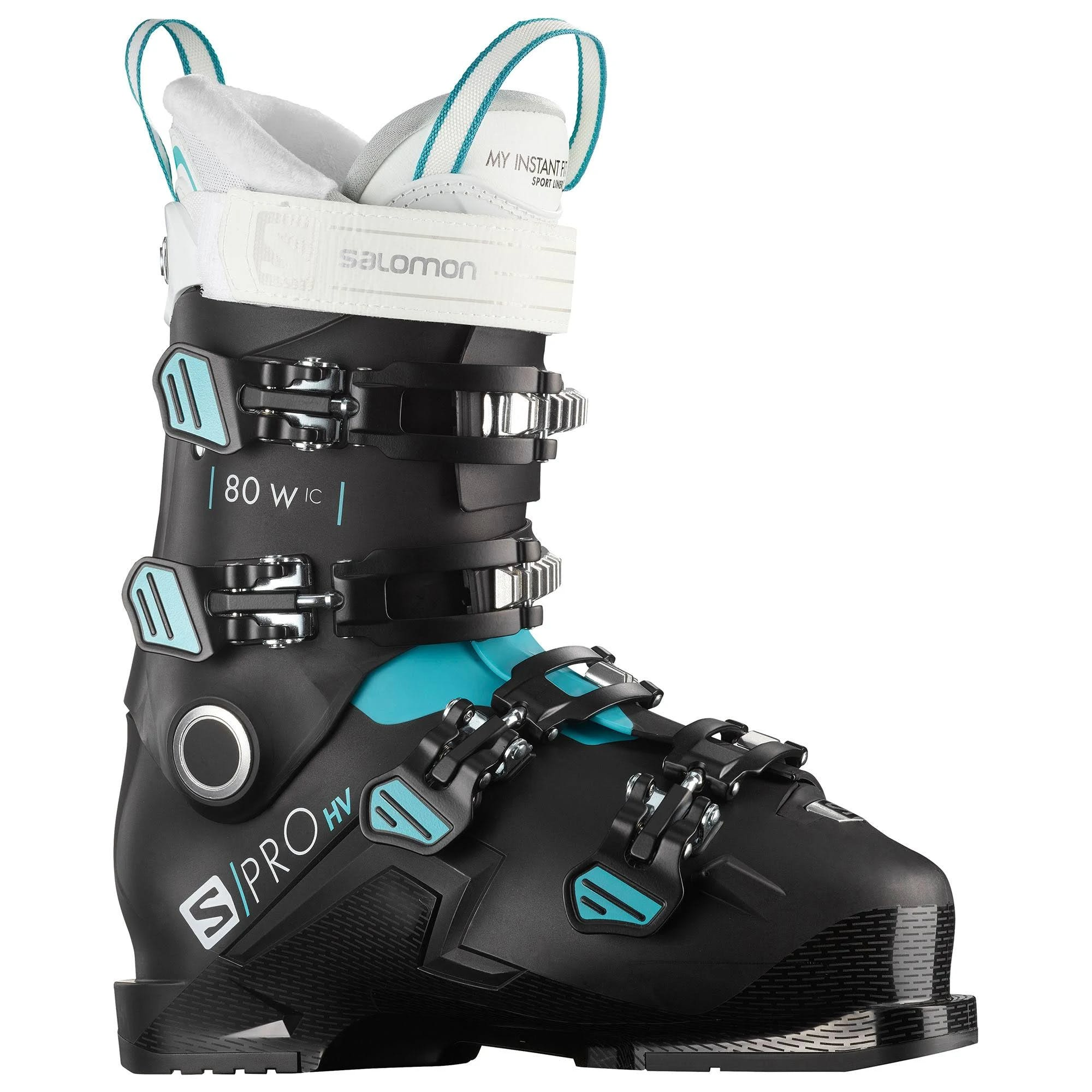Salomon S/pro HV 80 Ic Women's Ski Boots Black-scuba Blue-white 26.5