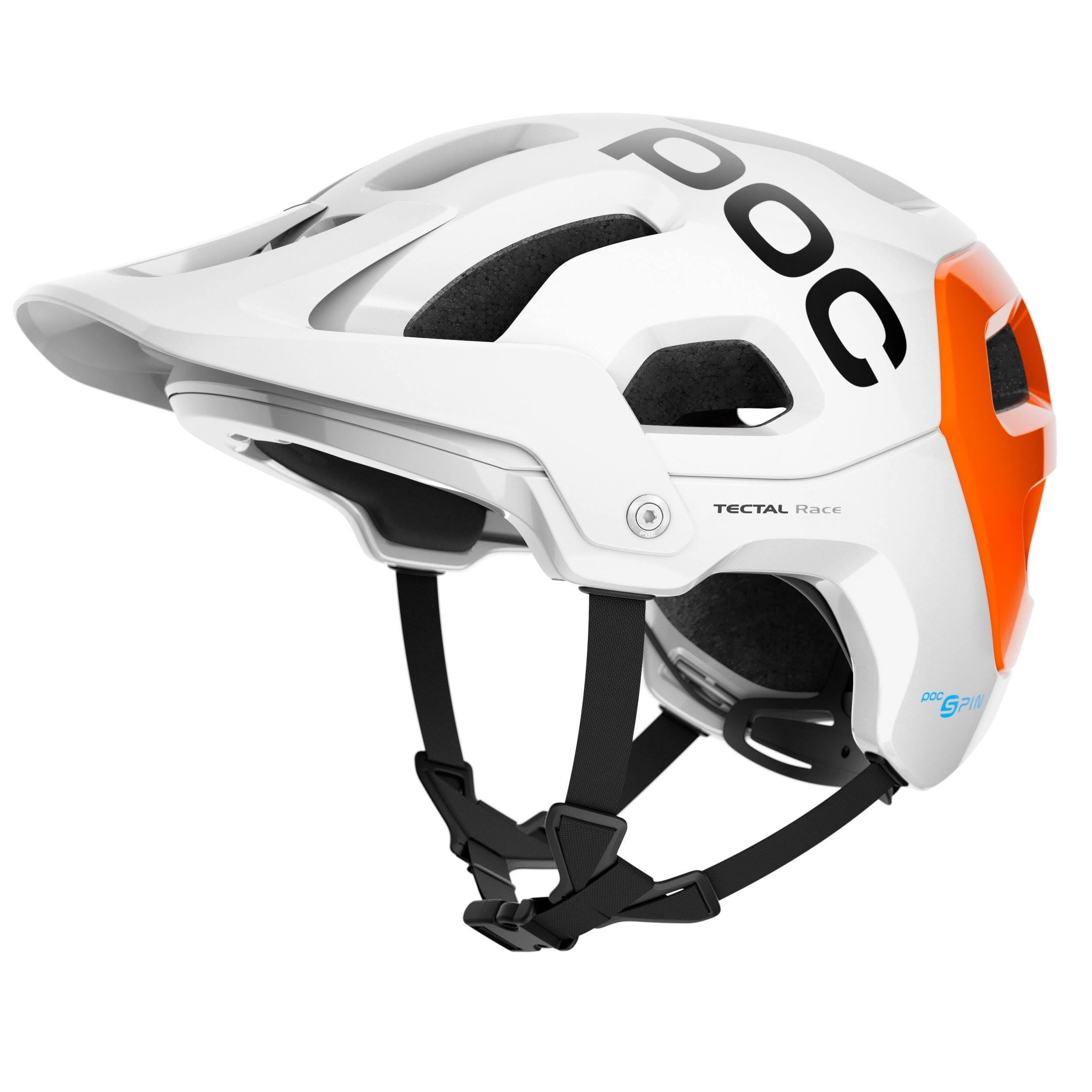 POC Tectal Race Spin NFC Helmet Hydrogen White/Fluorescent Orange Avip, XS/S