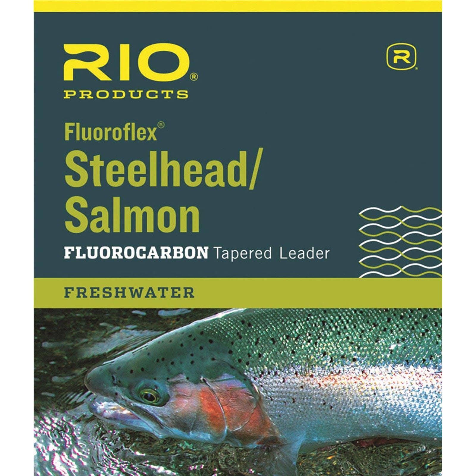 Rio Fluoroflex 9' Steelhead/Salmon Leader, 10lb.