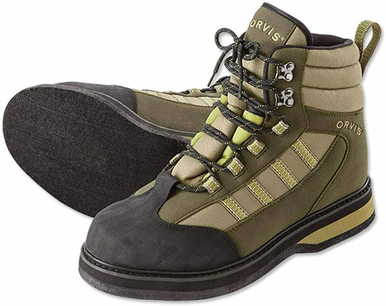 Orvis Encounter Felt Sole Wading Boots for Men - Tan/Olive - 10M