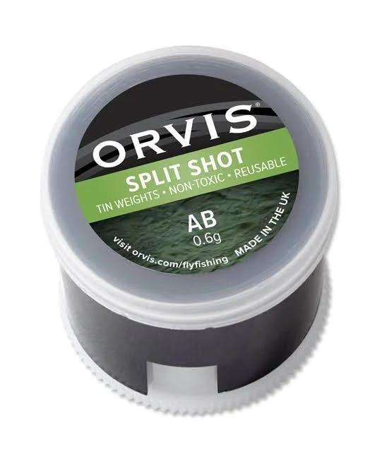 Orvis Non-Toxic Split Shot   Black   Size 4