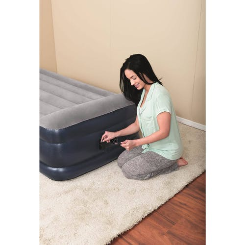 Bestway - Tritech 18 inch Airbed with Built-In AC Pump, Twin