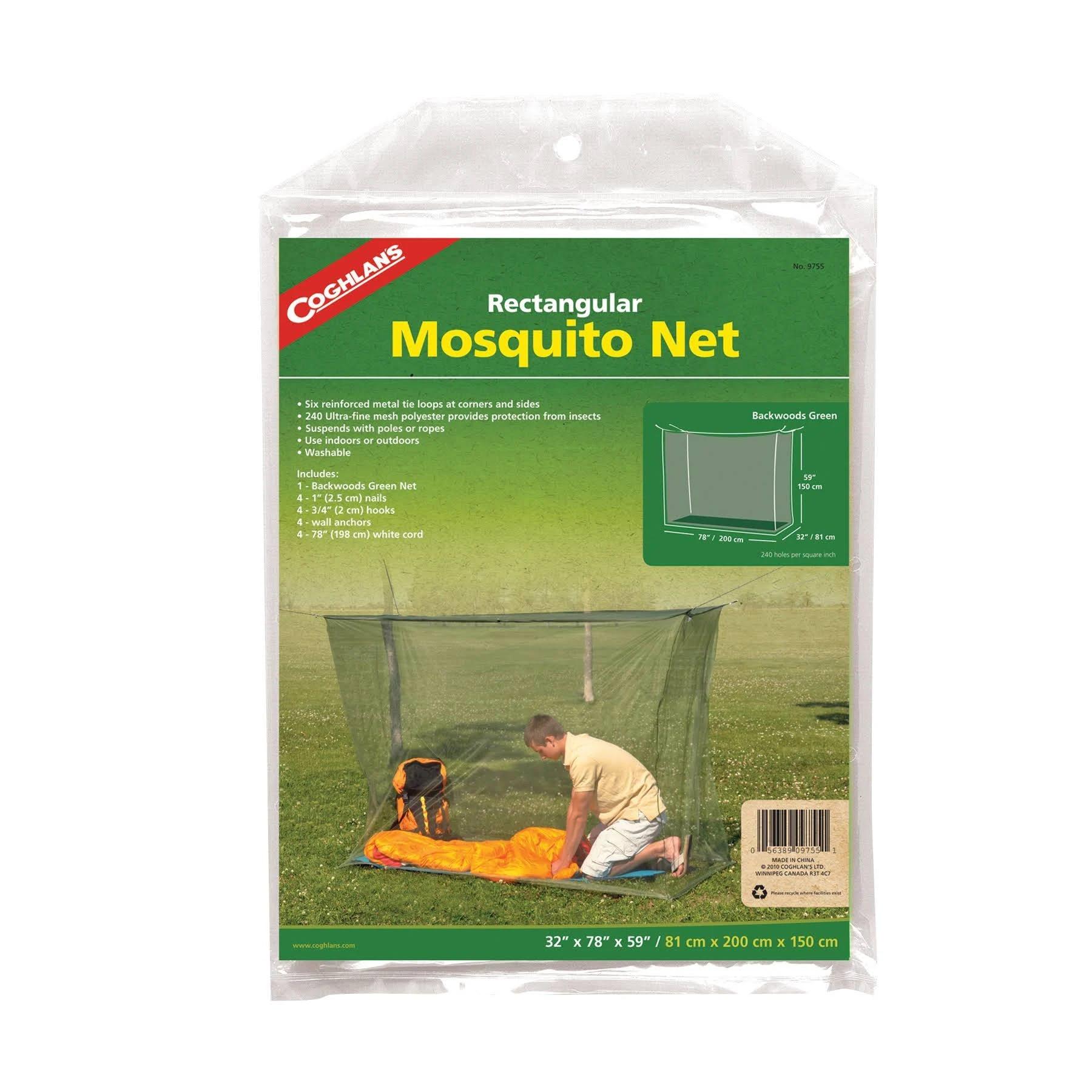Coghlans - Mosquito Net - Backwoods, Single, Green