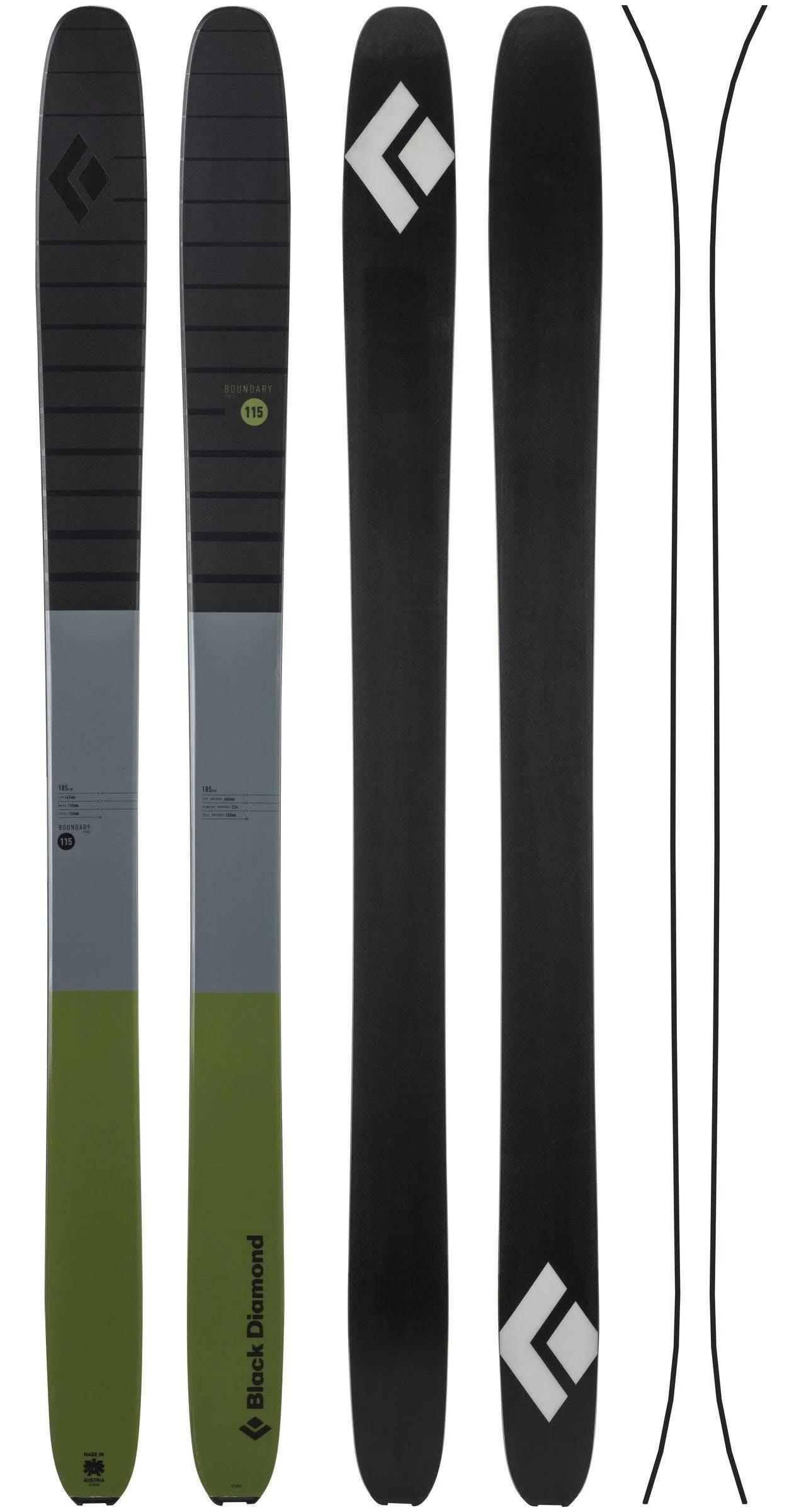 Black Diamond Boundary Pro 115 Skis Cargo