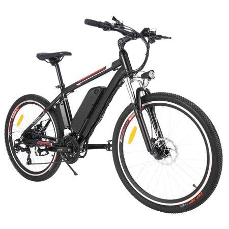 "Ancheer 26"" Electric Mountain Bike Aluminum Alloy Frame Cycling Electric Bicycle with 500W Motor and Removable 12.5Ah Lithium-Ion Battery for Men Adults"
