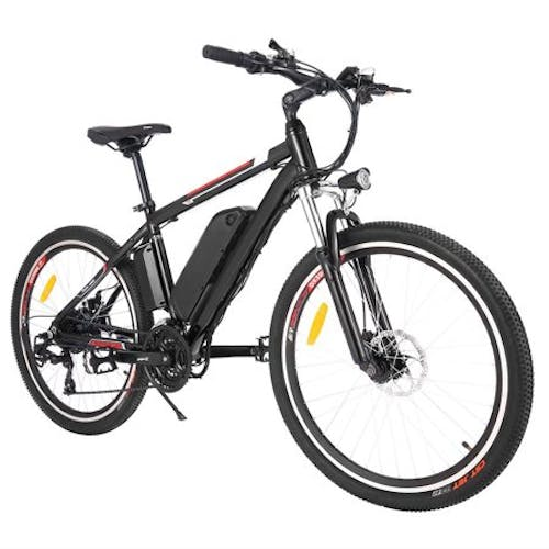 """Ancheer 26"""" Electric Mountain Bike Aluminum Alloy Frame Cycling Electric Bicycle with 500W Motor and Removable 12.5Ah Lithium-Ion Battery for Men Adults"""