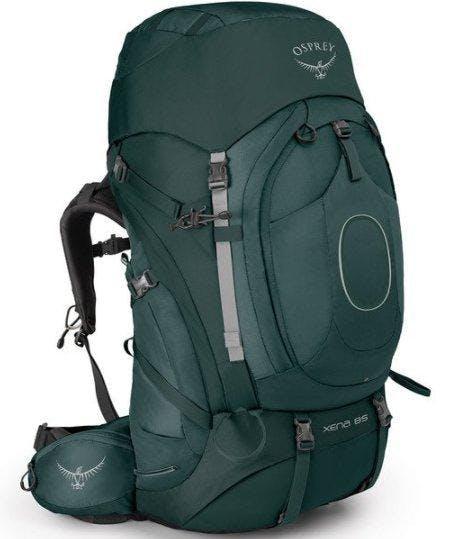 Osprey Xena 85 w/Daypack in Canopy Green, Size Women's Small
