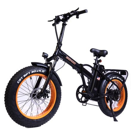 "SOHOO SOHOO 48V500W12AH 20""x4.0 Adult Folding Fat Tire E-bike Snow Foldable Mountain Electric Bicycle Beach Cruiser"