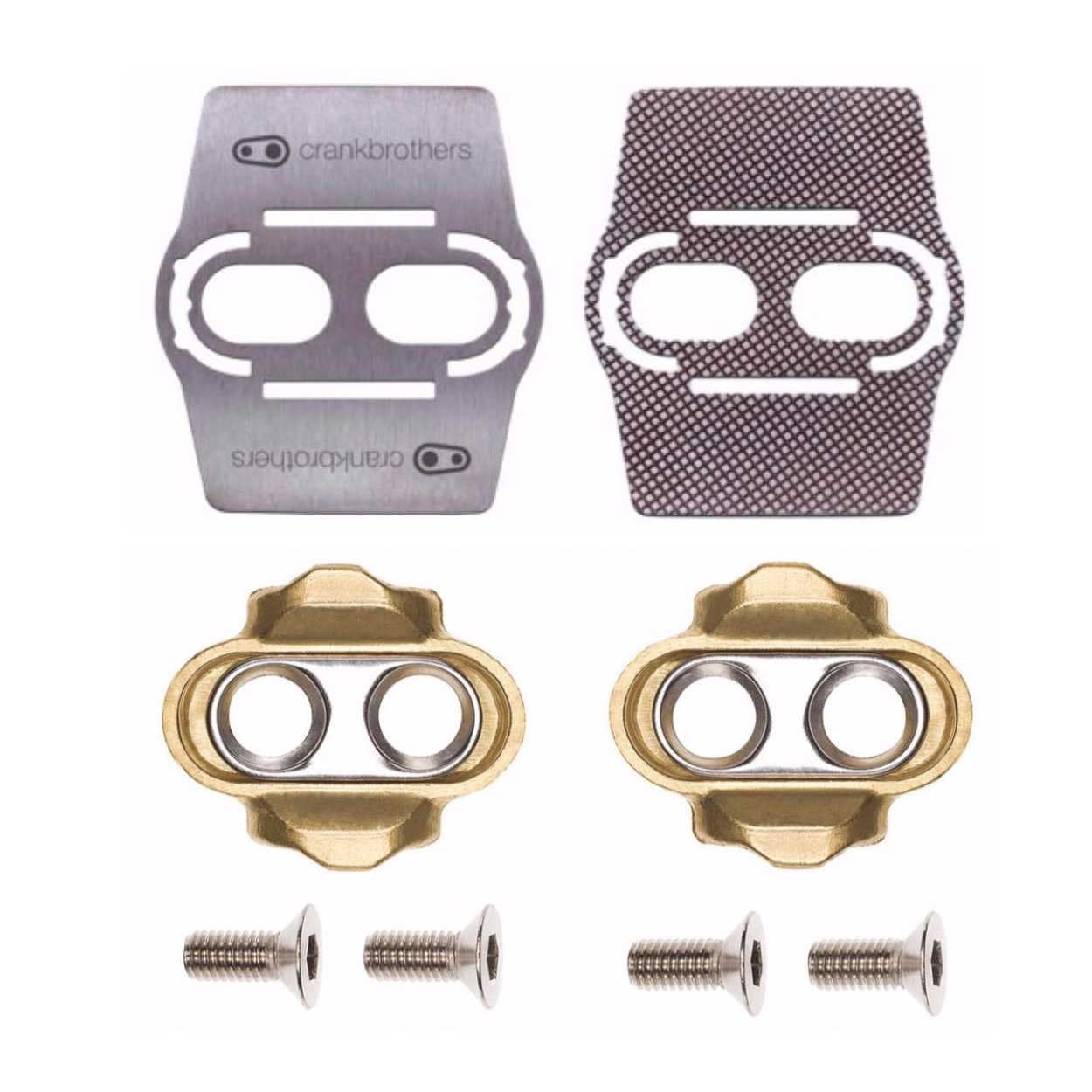 15e8710f8 CRANK BROTHERS Premium Cleats and Bike Shoe Shields MTB Pair  for Eggbeater