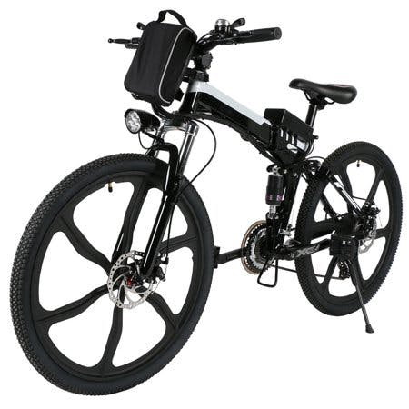 ANCHEER 26''2 Woking Models Foldable Electric Bike With Super Lightweight Magnesium Alloy 6 Spokes Integrated Wheel