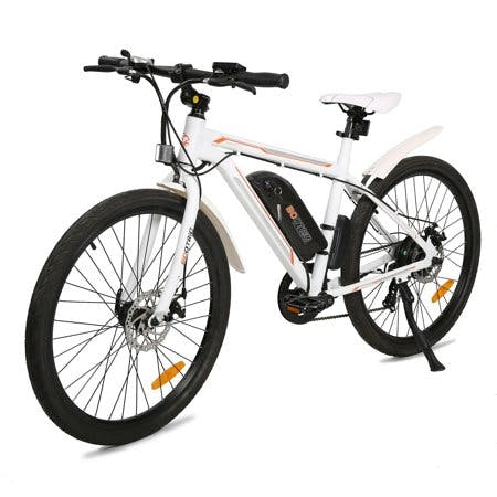 "Ecotric 26"" 36V 350W Electric City Bicycle e-Bike Removable Battery 7 Speed Pedal Assist White"