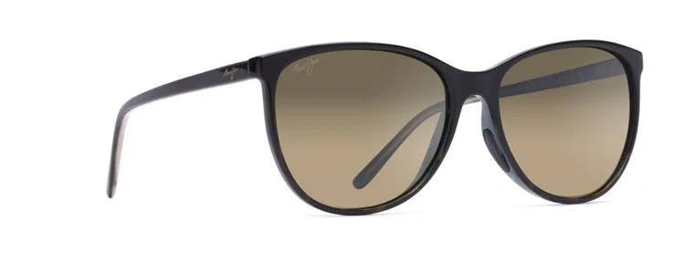 Maui Jim Women's Ocean Cat Eye Polarized Sunglasses - Tortoise with Peacock Frames with HCL Bronze Lenses