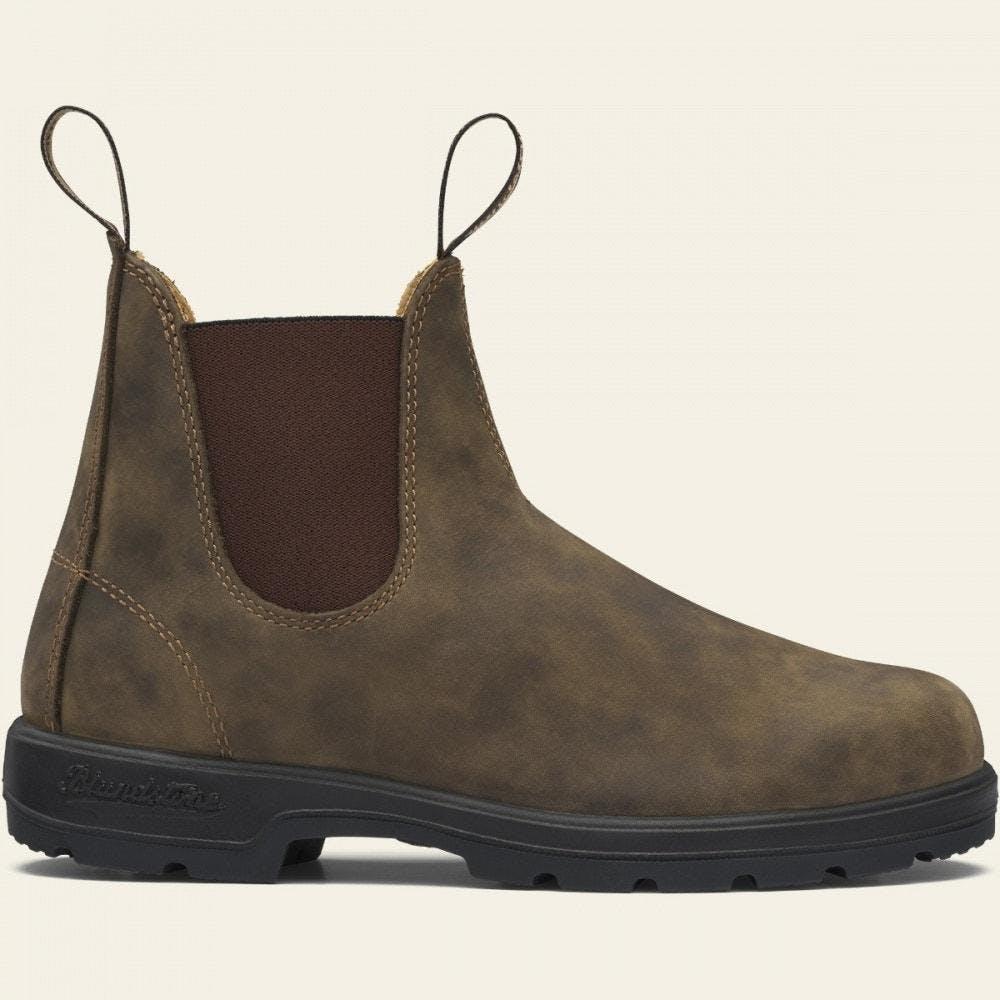 Blundstone 585 - Classics Chelsea Boots in Rustic Brown, Size Men's 9.5