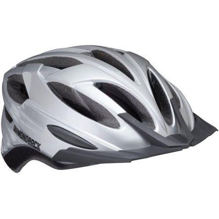Diamondback Recoil Mountain Bike Helmet Fits Heads 52-56cm,Medium - Gloss Silver