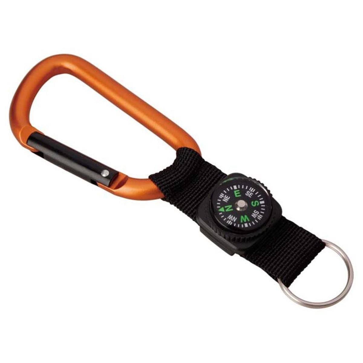 Munkees 8 mm Carabiner w/Compass Strap