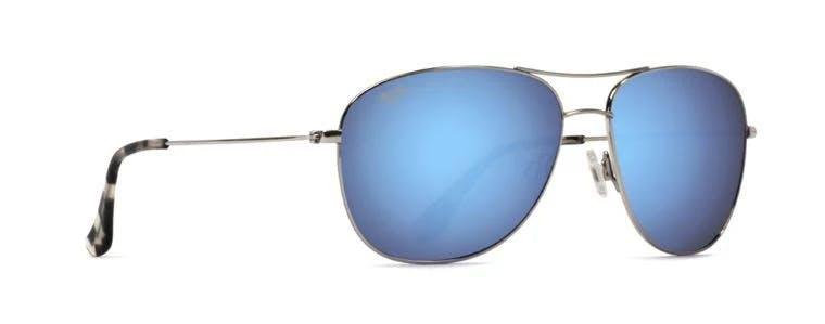 Maui Jim Cliff House Sunglasses - Silver/Blue Hawaii