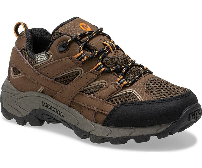 MERRELL - KIDS MOAB 2 LOW LACE WP - 3.5 - R - Earth